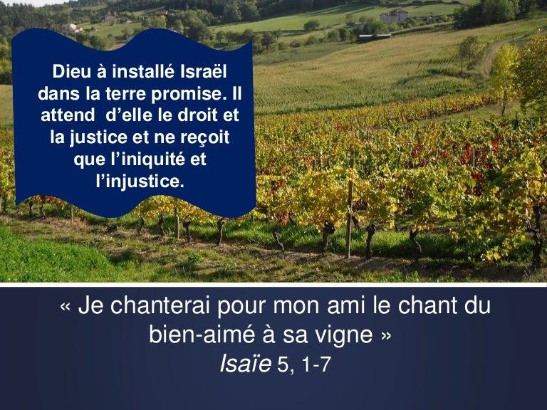 """Diaporama Isaïe 5, 1-7 : """"Le chant du bien-aimé à sa vigne"""""""