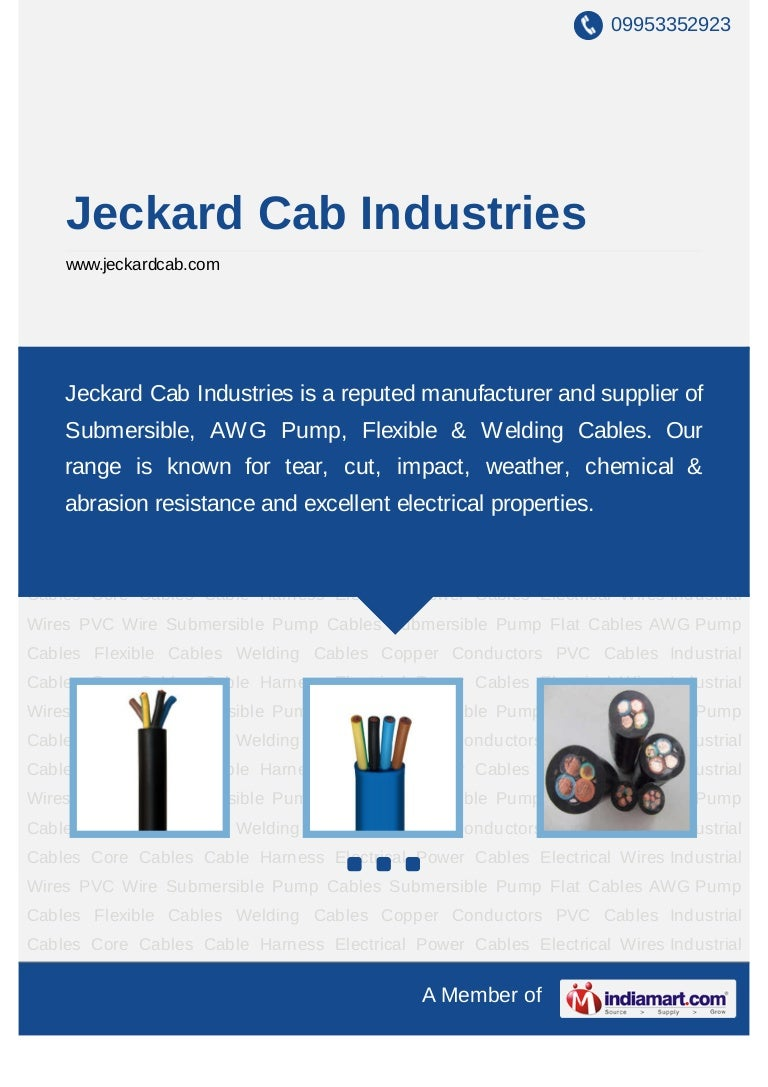 Jeckard Cab Industries Rajkot Submersible Flat Cable Aluminium Ca Wiring Harness Industry In Chennai