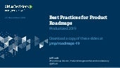 "Jeff Lash ""Best Practices for Product Roadmaps"" Productized19"