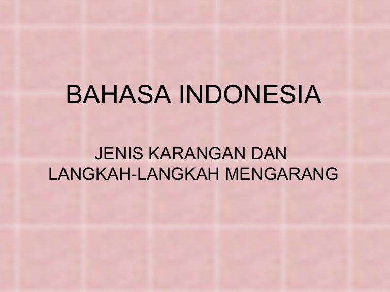 B Indonesia Jenis Karangan