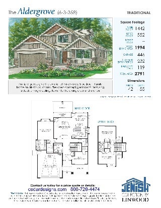 Cedar Custom Homes Plans Traditional