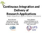 Continuous Integration and Delivery of Research Applications