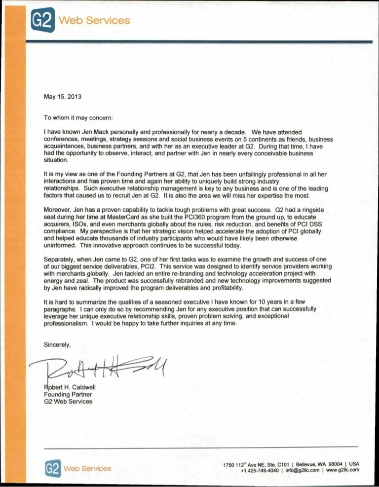 Business Reference Letter Business Reference Letter Format