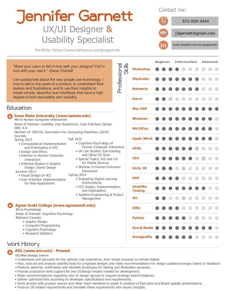 SlideShare  Ui Designer Resume