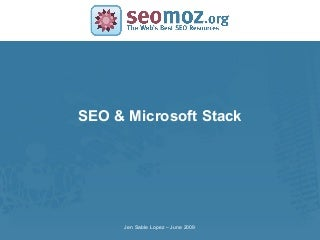 Jennifer Lopez Microsoft Stack