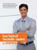 Four Traits of Teachable Leaders - RealizingLeadership.com