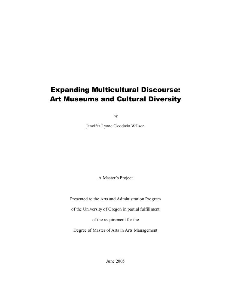 expanding multicultural discourse art museums and cultural diversity