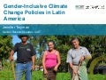 Gender-inclusive climate change policies in Latin America