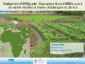 Adapt and Mitigate: Examples from IWMI's work on water related climate challenges in Africa