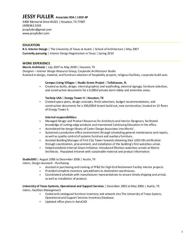 jessy fuller resume