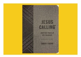 Download Ebook Jesus Calling (Textured Gray Leathersoft): Enjoying Peace in His Presence (with Full Scriptures) - [FREE] Registrer