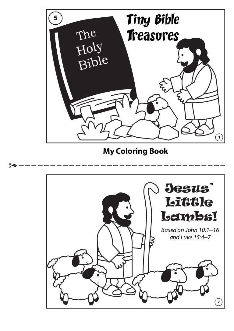 coloring book jesus little lambs