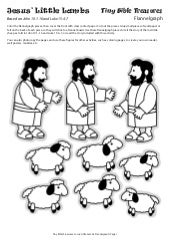 Black and White Flannelgraph: Jesus' Little Lambs