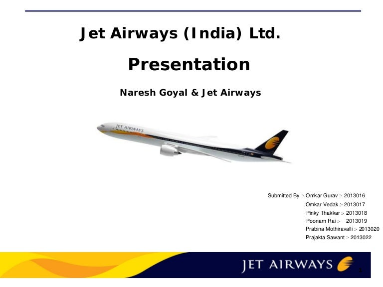 Jet airways ppt toneelgroepblik Gallery
