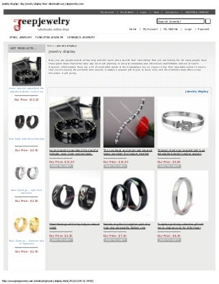 Jewelry display