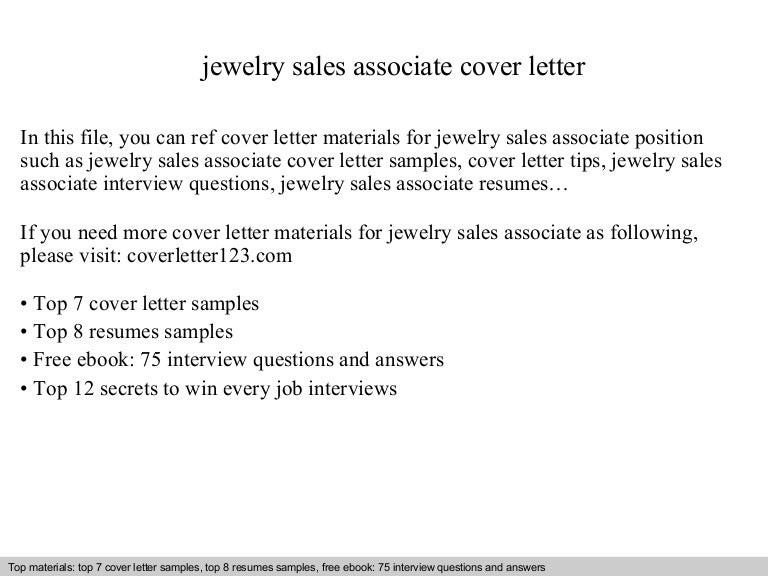 jewelry sales associate cover letter - Sales Associate Sales Assistant Interview Questions And Answers