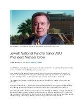 Jewish National Fund to honor ASU President Michael Crow