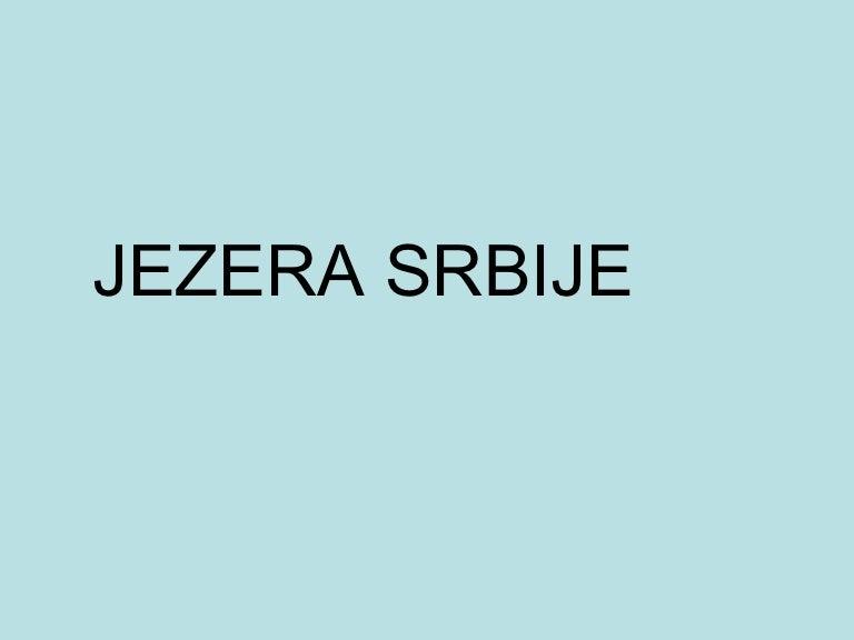 Jezera Srbije