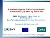 A Methodolgy for Disentangling Public Funded R&D (GBARD) by Industries