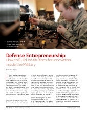 Defense Entrepreneurship