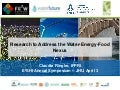 Research to Address the Water-Energy-Food Nexus
