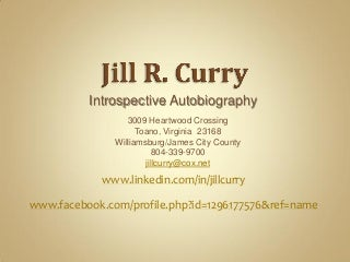 Jill R Curry Introspective Autobiography In Gold
