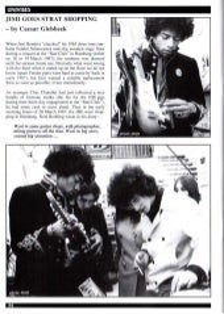 Jimi Hendrix beim Gitarrenkauf in Hamburg