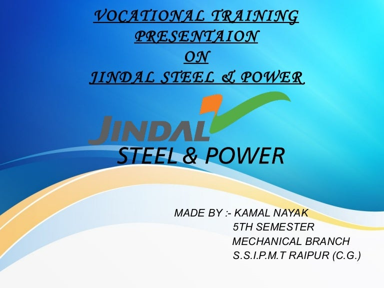 Jindal steel and power limited ppt
