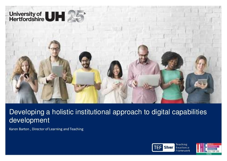 Developing An Holistic Institutional Approach To Digital