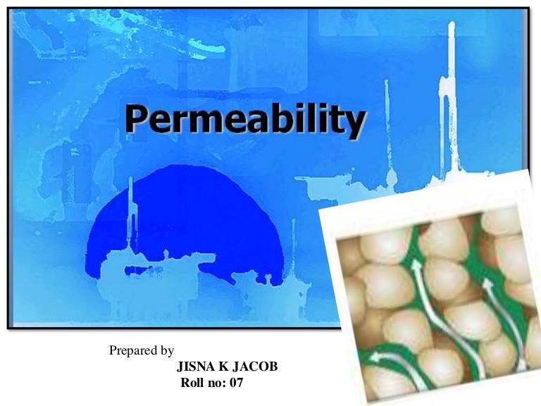 SOIL PERMEABILITY PPT
