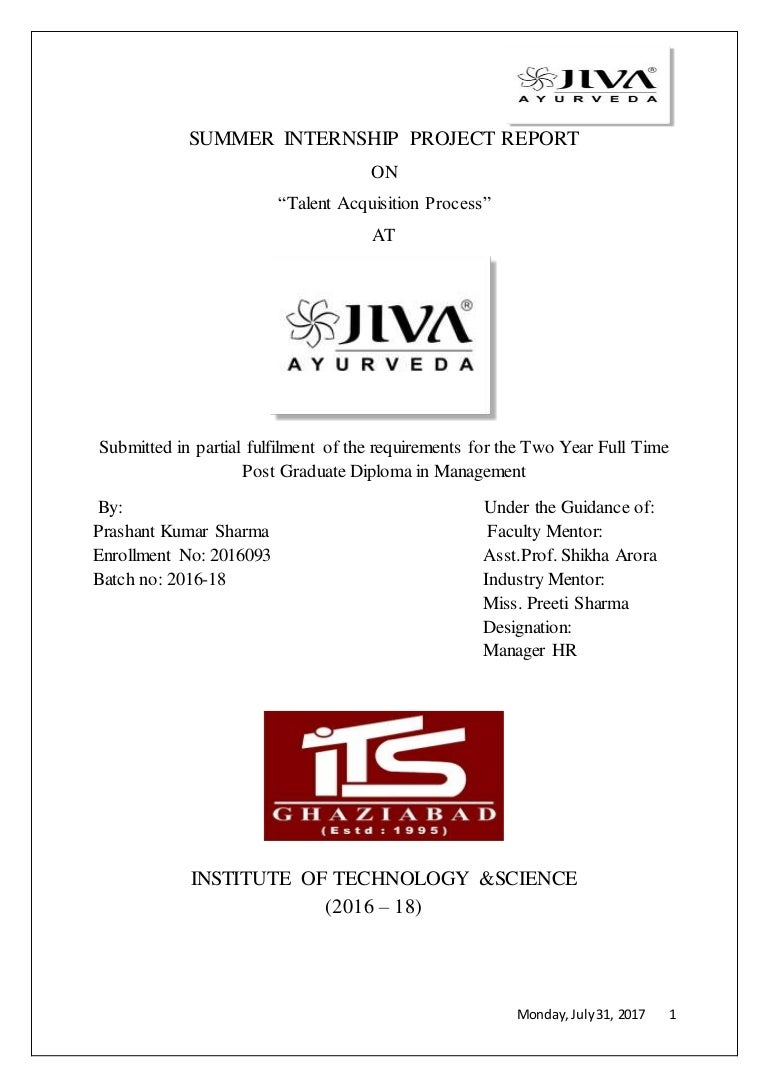 Talent Acquisition performance at Jiva Ayurveda