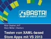 Testing XAML-based Windows Store Apps mit VS 2013