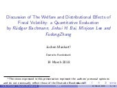 Discussion paper: The welfare and distributional effects of fiscal volatility - a quantitative evaluation