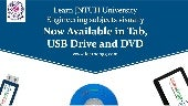 LEARN JNTUH ENGINEERING SUBJECTS VISUALLY: NOW AVAILABLE IN TABLET, USB DRIVE AND DVD