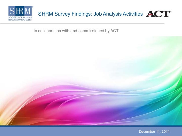 job analysis activities