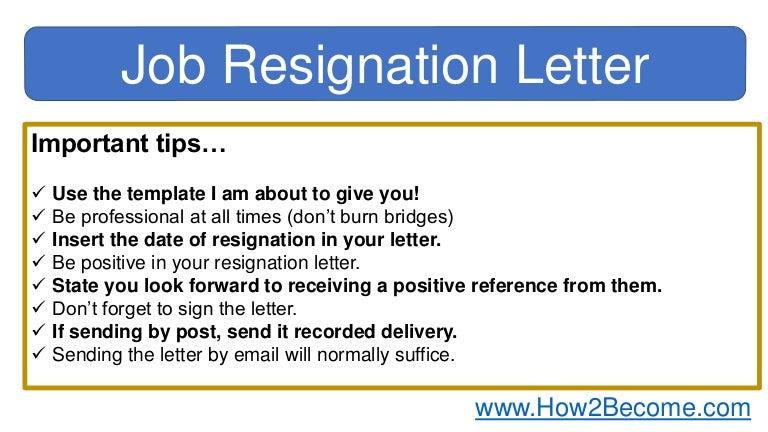 Job Resignation Letter Template from cdn.slidesharecdn.com