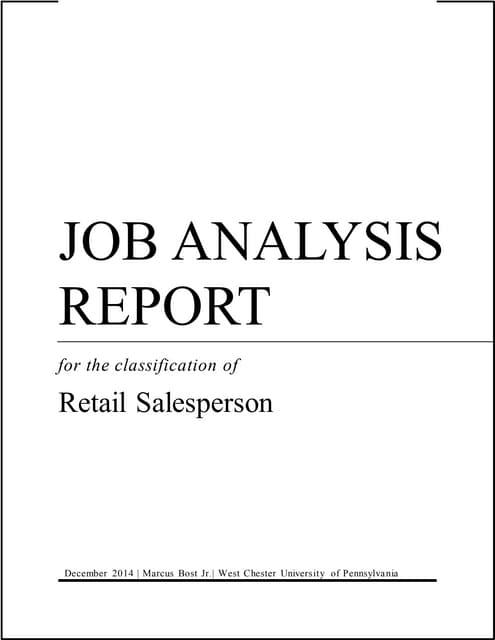 sales analysis report sample