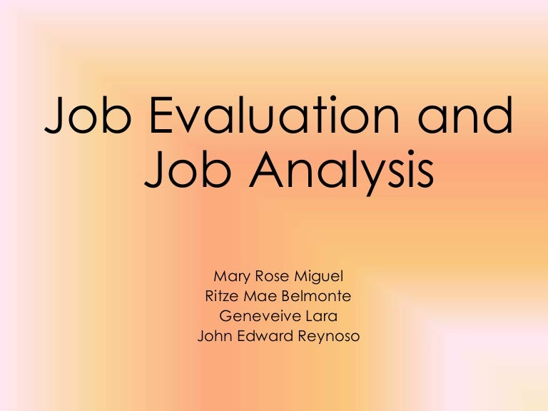 Job Analysis Powerpoint Chapter 6 Ito Ung Report Nmin