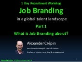 Job Branding & SAAA Model for Corporate Recruitment by Alexander Crepin  part 1