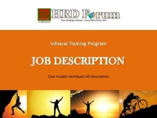 Cara Mudah Membuat Job Description