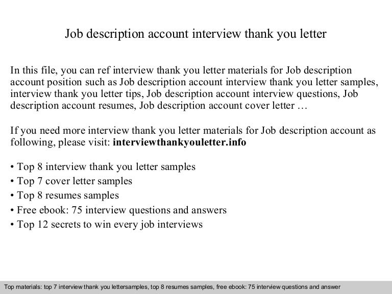 Job Description Account