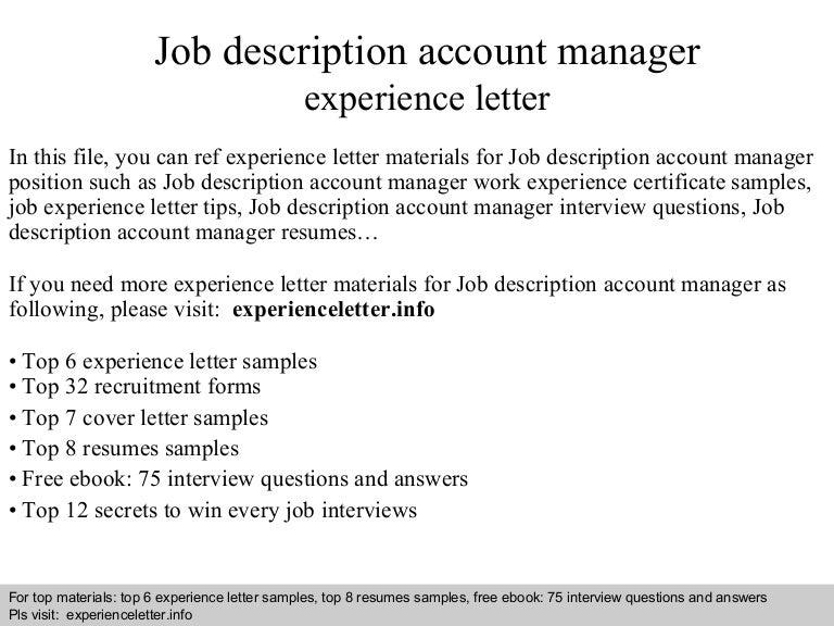 JobdescriptionaccountmanagerexperienceletterPhpappThumbnailJpgCb