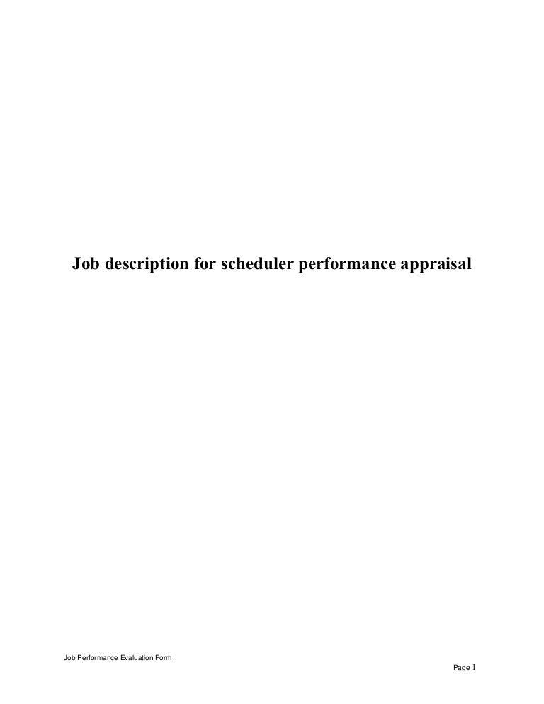 JobdescriptionforschedulerperformanceappraisalLvaAppThumbnailJpgCb