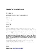 Emails Sent Arranging Expert Interviews