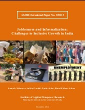 Joblessness and Informalization: Challenges to Inclusive Growth in India