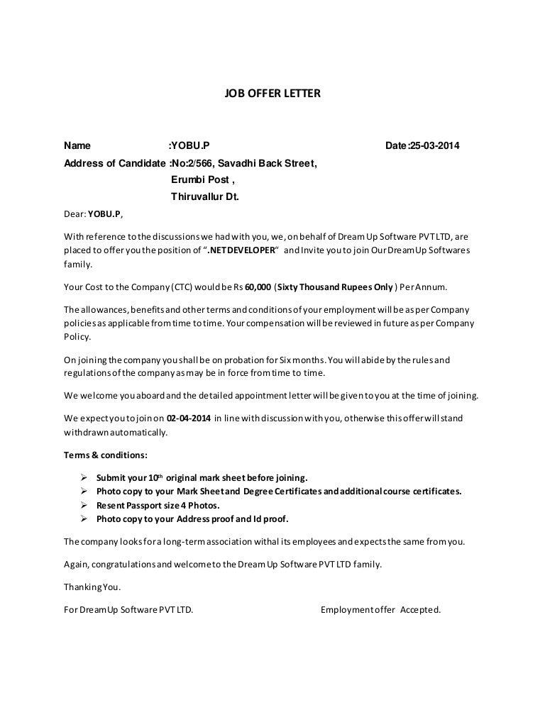 Company Job Offer Letter from cdn.slidesharecdn.com
