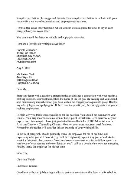 SlideShare  Cover Letter Job Resume