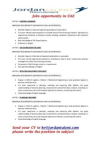 Jobs opportunities in uae 3