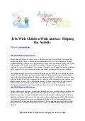 Jobs with children with autism   helping the autistic