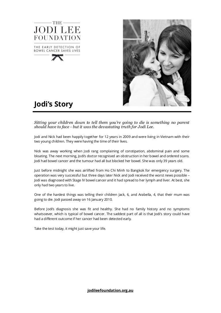 Jodi S Story